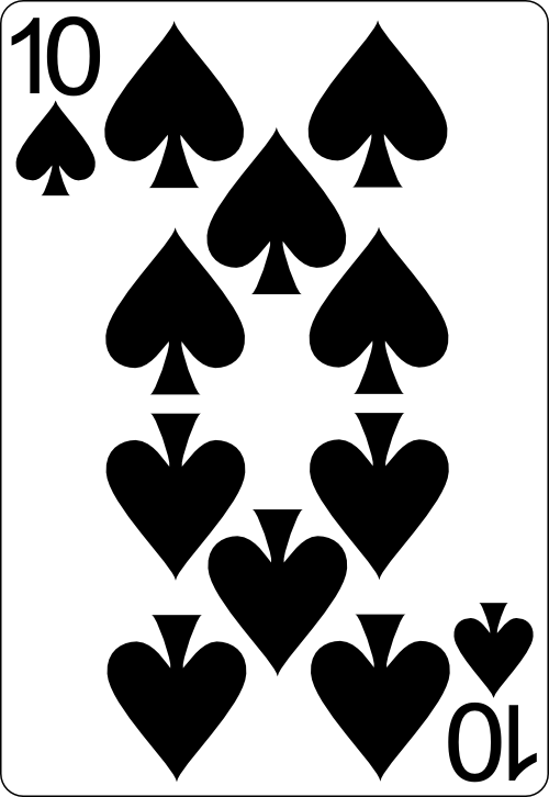 10 spade card  Pick a Card
